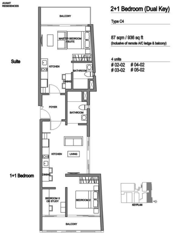 Avant Residences floor plan 4