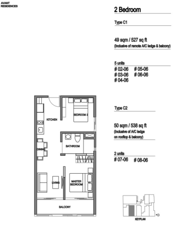 Avant Residences floor plan 2