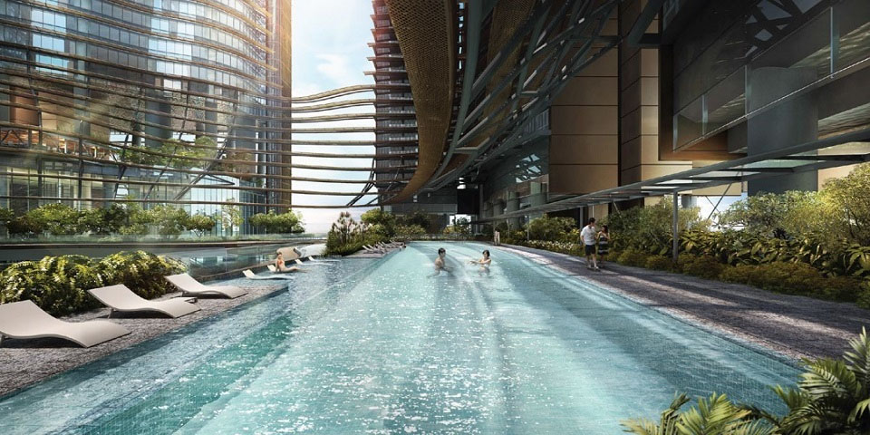 marina one residences pool