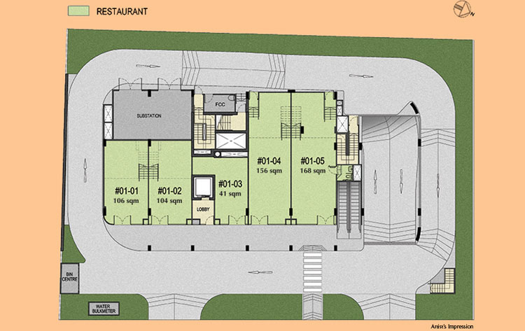 183 Longhaus Commercial F&B Restaurant floor plan
