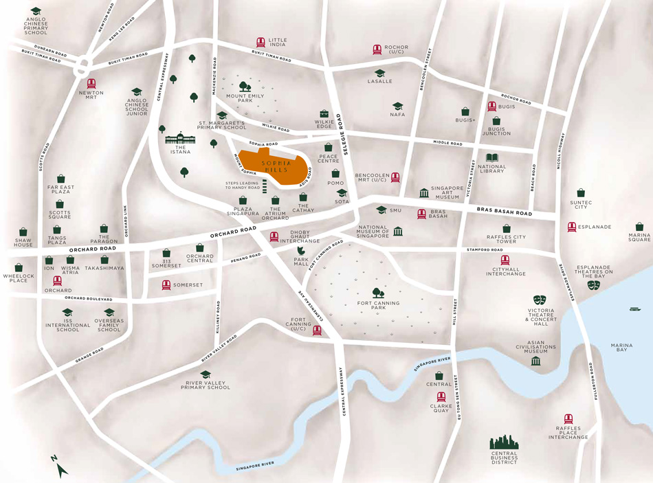 Sophia Hills Location