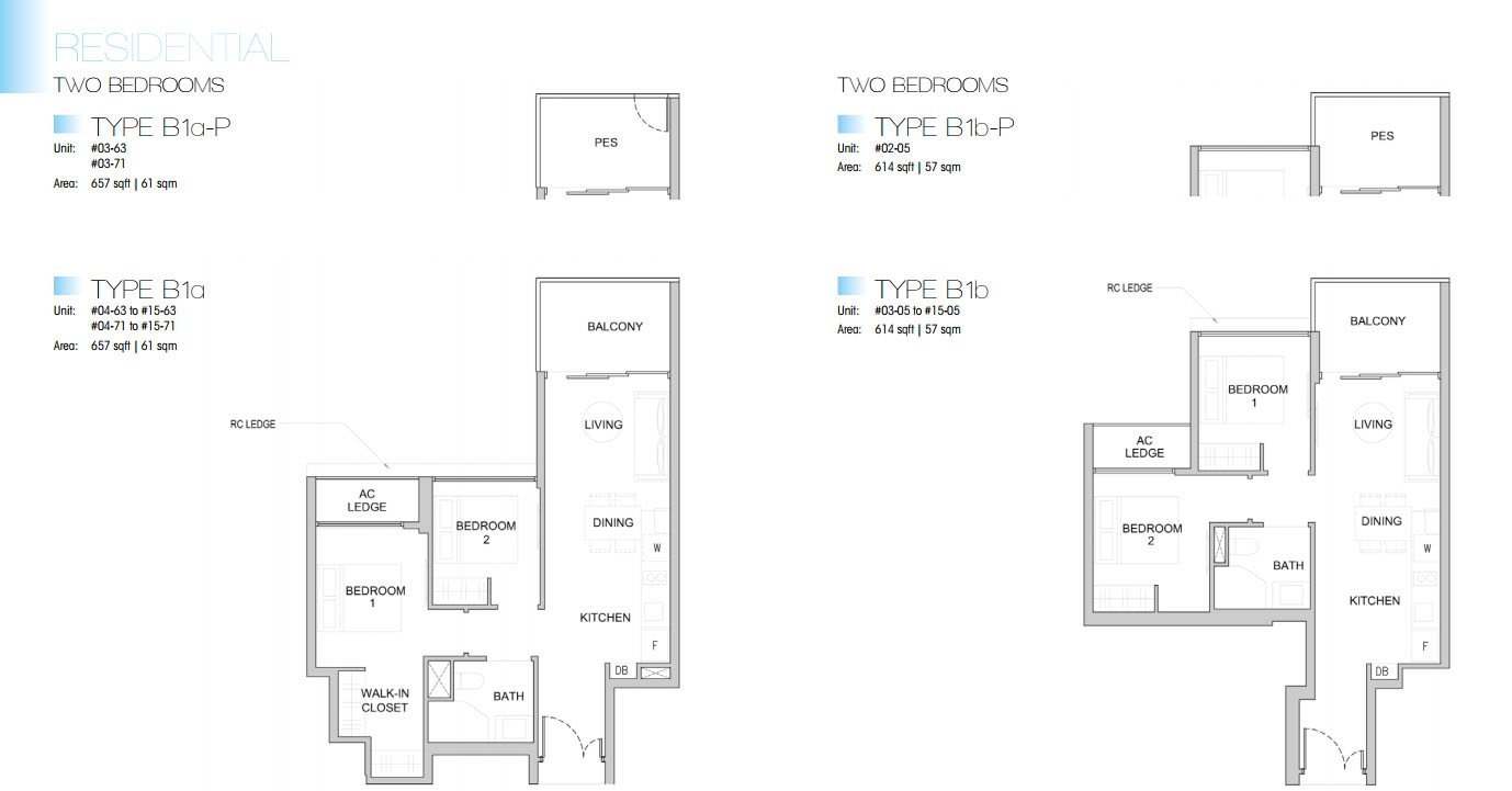Kingsford Waterbay floor plan 2br