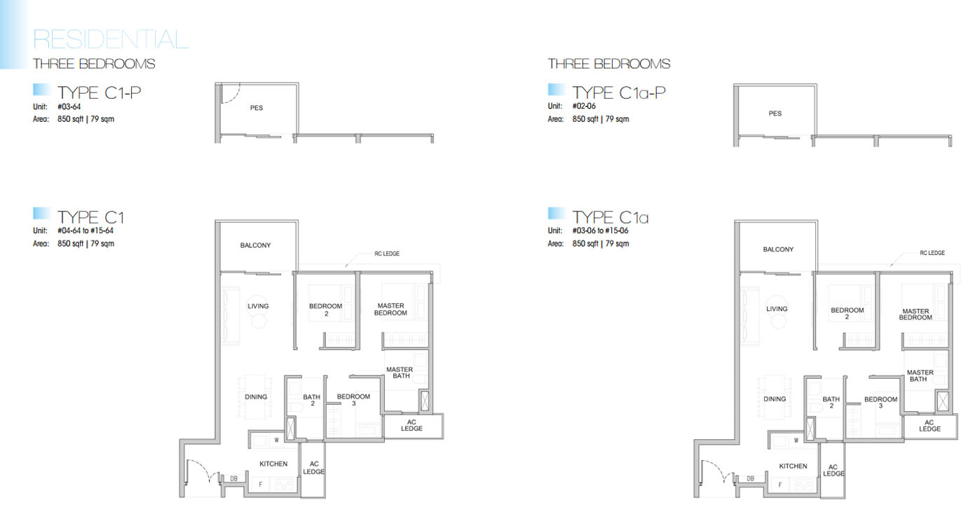 Kingsford Waterbay floor plan 3br